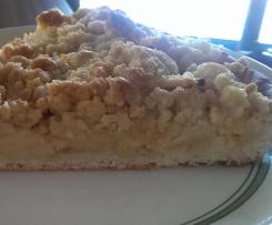 Omas Apfelstreuselkuchen mit Hefeteig