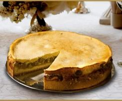Feiner Rhabarberkuchen mit Quarkguss