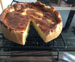 Käsekuchen mit Äpfeln (zucker- und lactosefrei)