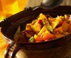 Variation von Kartoffeleintopf nach Rioja-Art