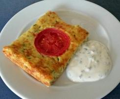 Zucchinipizza (veggie)