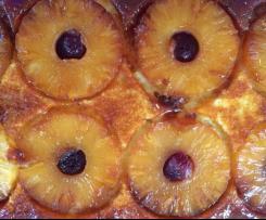 Karamelisierter Ananaskuchen