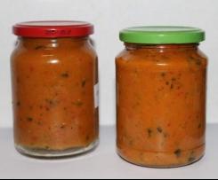 Zucchini-Soße (lecker zu Grillfleisch)