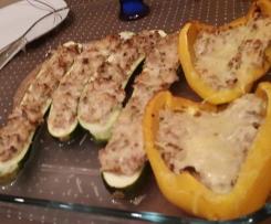 Zucchini - Tunfisch - Schiffchen ( low carb )
