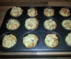 Muffins, herzhaft mit Speck und Käse