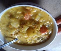 pikanter Kürbis (Kartoffel, Lauch) Eintopf