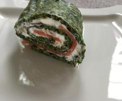 Spinat-Lachs-Rolle (Low Carb)
