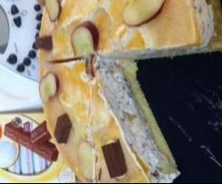 Sommerleichte Pfirsich-Maracuja-Joghurtschokolade-Torte