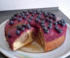 Marmorierte Heidelbeer-Torte