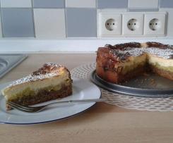 Rhabarberkuchen mit Quarkschaumguss