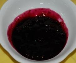 Heidelbeer-/Blaubeersoße