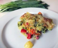 Gemüse-Kartoffelauflauf mit Bärlauchhollandaise