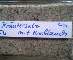 Kräutersalz mit Knoblauch
