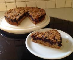 Heidelbeer -Streuselkuchen