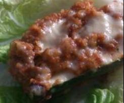 Zucchinischiffchen mit Hackfleisch und Bulgur