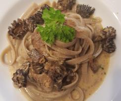 Gerrys Tagliolina ai Funghi Porcini - Steinpilz-Pasta in feinem Morchelrahm - göttlich!!!