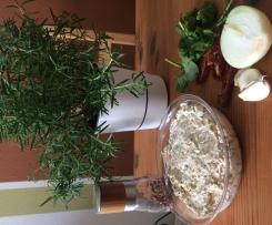 Mediterraner Aufstrich - Frischkäse mit getrockneten Tomaten und Rucola