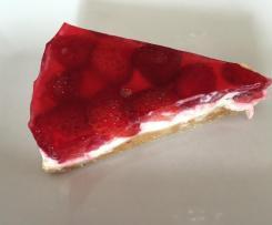 """Erdbeer-Frischkäsetorte ohne Backen """"No Bake Cake"""""""