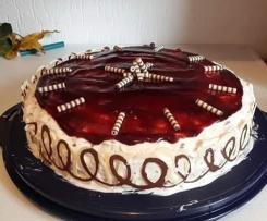 Stracciatella-Kirsch Torte // schnell