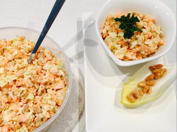 ananas karotten kohl salat mit erdn ssen von cori a77 ein. Black Bedroom Furniture Sets. Home Design Ideas