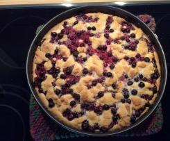 Johannisbeer-Streuselkuchen mit Quarkfüllung
