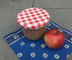Apfelmus aus ungeschälten Äpfeln, (fast) ohne Zucker