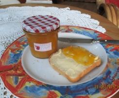 Nektarinen-Konfitüre mit Orangensaft