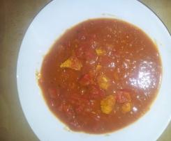 Currywurst mit Hühnchen
