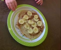 Bananen Pancakes, Vegane Pfannkuchen, Zuckerfreie Frühstückspancakes