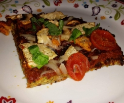 Variation von Low Carb Zucchini-Pizza - mit Chiasamen