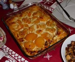 Medaillons mit Pfirsich in Gorgonzolasauce