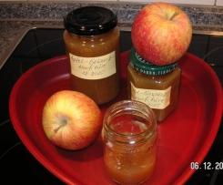 Apfel-Konfitüre mit weihnachtlichen Gewürzen