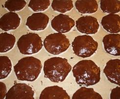 Oblatenlebkuchen mit Schokoladenüberzug