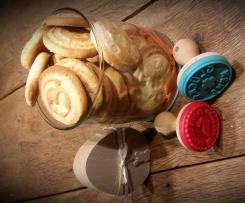 Kekse mit Stempel Gruß