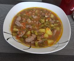 Bohnen-Rinder-Eintopf