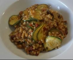 Zucchini-Graupen-Risotto, vegan