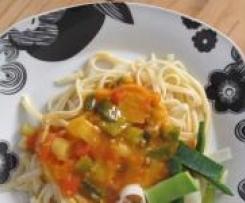 Tomaten-Porree-Sauce