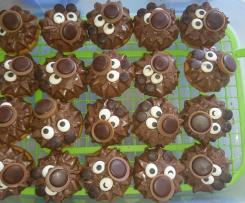 Muffin mit Puddingpulver und Schokolade