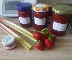 Erdbeer-Rhabarber-Vanille Marmelade