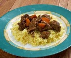 Couscous mit Rindfleisch und Gemüse - All-in-One