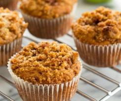 saftige Apfel Crumble Muffins - Apfelmuffins mit Streuseln