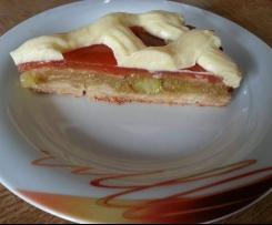 Rhabarber-Apfel-Vanillecreme-Kuchen
