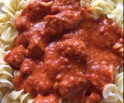 Gulasch mit Paprika