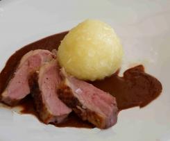 Entenbrust (Sous Vide) mit Rotweinsauce