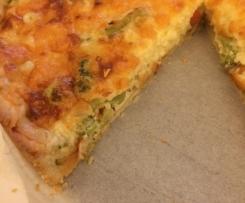 Quiche mit Brokkoli und Schinken