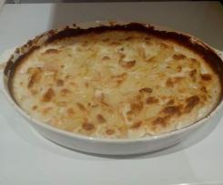 Gratin dauphinois (Kartoffelauflauf mit Knoblauch-Sahne und Käse)