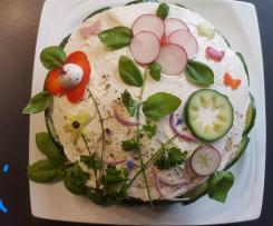 Salattorte  ..frisch..knackig..bunt!!