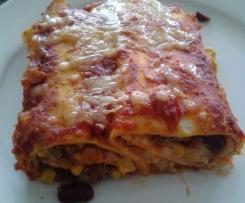 Enchiladas (vegetarisch oder mit Fleisch)