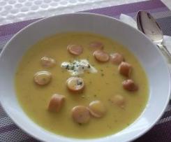 Wienerle-Kartofellsuppe