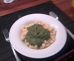 Spinatsauce zu Pasta